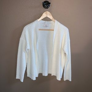 Loft Outlet Petite White Cardigan Sweater